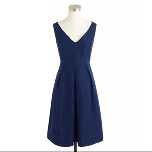 J. Crew Kami v-neck Faille Dress In Haven Blue 10